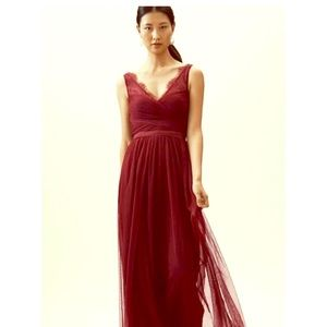 BHLDN hitherto formal tulle gown in Caspian Sea